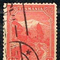 Sellos: TASMANIA (ESTADO DE AUSTRALIA) AÑO 1899, Nº 55, MONTE WELLINGTON, USADO. Lote 241028860