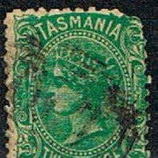 Sellos: TASMANIA (ESTADO DE AUSTRALIA) AÑO 1870, Nº 21, LA REINA VICTORIA DE INGLATERRA, USADO. Lote 241029555