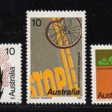 Sellos: AUSTRALIA 554/56** - AÑO 1975 - AMENAZAS AL MEDIO AMBIENTE. Lote 241760030