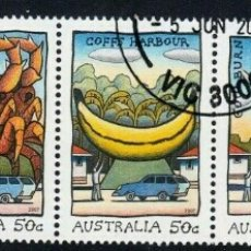 Sellos: AUSTRALIA 2007 ANIMACION SERIE DE SELLOS USADOS. Lote 241833690