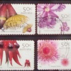 Sellos: AUSTRALIA ORQUÍDEAS SERIE DE SELLOS USADOS. Lote 242435140