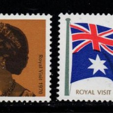 Sellos: AUSTRALIA 404/05** - AÑO 1970 - VISITA DE LA REINA ISABEL II. Lote 243852975