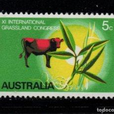 Sellos: AUSTRALIA 406** - AÑO 1970 - CONGRESO INTERNACIONAL DE AGRICULTURA. Lote 243853285
