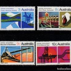 Sellos: AUSTRALIA 416/19** - AÑO 1970 - DESARROLLO NACIONAL - INDUSTRIA. Lote 243853550