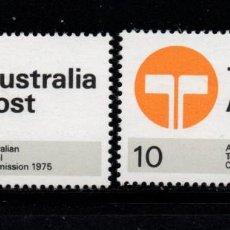 Sellos: AUSTRALIA 568/69** - AÑO 1975 - COMISION POSTAL Y DE TELECOMUNICACIONES. Lote 243858410