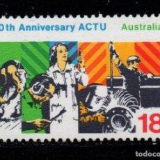 Sellos: AUSTRALIA 621** - AÑO 1977 - 50º ANIVERSARIO DEL CONCILIO DE SINDICATOS. Lote 243859630