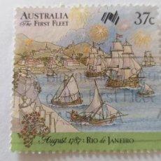 Sellos: SELLO DE AUSTRALIA. YVERT 1019. COLONIZACION DE AUSTRALIA. Lote 244180200