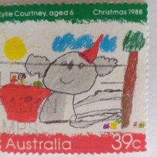 Sellos: SELLO DE AUSTRALIA. AÑO 1988. YVERT 1104. NIÑOS. INFANCIA. PINTURA INFANTIL. Lote 244181095