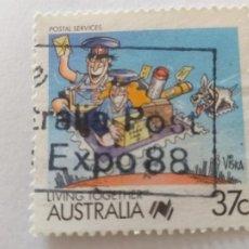Sellos: AUSTRALIA. AÑO 1988. II CENTENARIO DE LA COLONIZACIÓN. LA VIDA JUNTOS. SERVICIO POSTAL. YVERT 1056. Lote 244181860