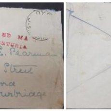 Sellos: O) AUSTRALIA 1939, SELLO PERDIDO POR CHOQUE DE VOLADOR, BARCO CENTURION, CERCA DE CALCUTA, CON DOBLE. Lote 244733425
