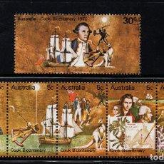 Sellos: AUSTRALIA 407/12** - AÑO 1970 - BARCOS - BICENTENARIO DE LA LLEGADA DEL CAPITAN COOK A AUSTRLIA. Lote 245057695