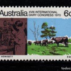 Sellos: AUSTRALIA 421** - AÑO 1970 - CONGRESO INTERNACIONAL DE PRODUCTOS LACTEOS. Lote 245058175