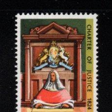Sellos: AUSTRALIA 534** - AÑO 1974 - 150º ANIVERSARIO DE LA CARTA DE LA JUSTICIA. Lote 245059980
