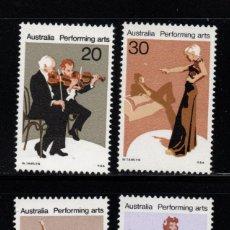 Sellos: AUSTRALIA 608/11** - AÑO 1977 - LAS ARTES ESCENICAS EN AUSTRALIA. Lote 245061220
