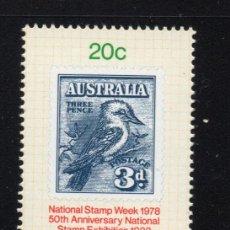 Sellos: AUSTRALIA 641** - AÑO 1978 - SEMANA NACIONAL DEL SELLO - FAUNA - AVES. Lote 245063090