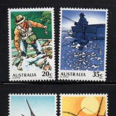 Sellos: AUSTRALIA 684/87** - AÑO 1979 - LA PESCA EN AUSTRALIA. Lote 245064395