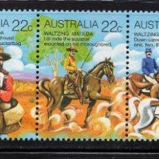 Sellos: AUSTRALIA 698/702** - AÑO 1980 - FOLKLORE AUSTRALIANO. Lote 245064870