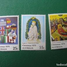 Sellos: +AUSTRALIA, 1979, NAVIDAD, YVERT 681/83. Lote 245258845