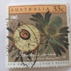 Sellos: SELLO DE AUSTRALIA. AÑO 1986. YVERT 936. 2º CENTENARIO LLEGADA PRIMEROS COLONOS EN AUSTRALIA. FLORA. Lote 245446715