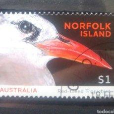 Sellos: AUSTRALIA NORFOLK AVES FAETON COLIRROJO SELLO USADO. Lote 246450945