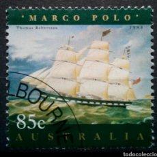 Sellos: AUSTRALIA VELERO MARCO POLO SELLO USADO DE 0,85 $. Lote 261162105