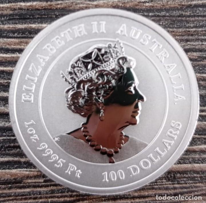 Sellos: Moneda platino 1 oz Año del Buey 2021 - Foto 2 - 253657330