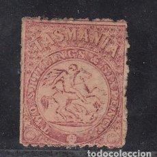 Sellos: TASMANIA FISCAL POSTAL 2 USADA, SAN JORGE,. Lote 254207530