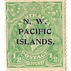 Sellos: AUSTRALIA 1919 - GEORGE V - SOBRECARGA NW PACIFIC ISLANDS - HALF PENNY - NUEVO. Lote 254305105