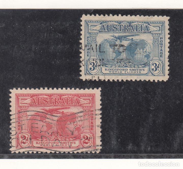 AUSTRALIA ..75/6 USADA, AVION, VUELO TRANSOCEÁNICO (Sellos - Extranjero - Oceanía - Australia)
