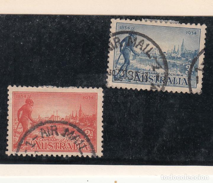 AUSTRALIA ..94/5 USADA, CENTENARIO COLONIA DE VICTORIA, (Sellos - Extranjero - Oceanía - Australia)