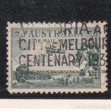 Sellos: AUSTRALIA A .2 USADA, AVION,. Lote 254631215
