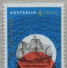 Sellos: 1966. AUSTRALIA. 344. 350 AÑOS LLEGADA A AUSTRALIA DEL NAVEGANTE DIRK HARTOG. SERIE COMPLETA. NUEVO.. Lote 256134370