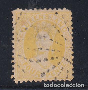 QUEENSLAND COLONIA BRITÁNICA 35 USADA, VICTORIA (Sellos - Extranjero - Oceanía - Australia)