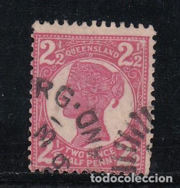 QUEENSLAND COLONIA BRITÁNICA 80 USADA, (Sellos - Extranjero - Oceanía - Australia)