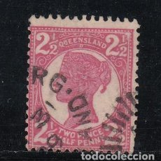 Sellos: QUEENSLAND COLONIA BRITÁNICA 80 USADA,. Lote 257714365
