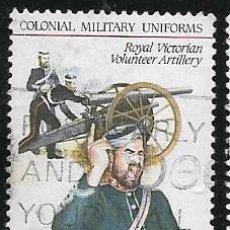 Sellos: AUSTRALIA YVERT 893/97 SERIE COMPLETA, UNIFORMES MILITARES. Lote 260559295
