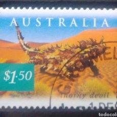 Sellos: AUSTRALIA DIABLO ESPINOSO TARIFA INTERNACIONAL SELLO USADO. Lote 261159570