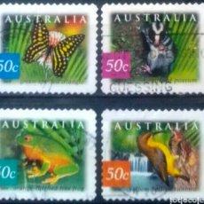 Sellos: AUSTRALIA FAUNA AUTORIZACIÓN SERIE DE SELLOS USADOS. Lote 261161170