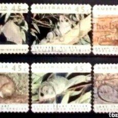 Sellos: AUSTRALIA FAUNA AUTÓCTONA SERIE DE SELLOS USADOS. Lote 261161245