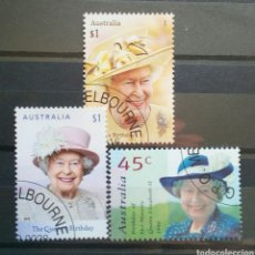 Sellos: AUSTRALIA REINA ISABEL II SERIE DE SELLOS USADOS. Lote 261162155