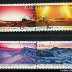 Sellos: AUTRALIA LA ANTARTIDA SERIE DE SELLOS USADOS. Lote 261162235