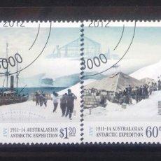 Sellos: AUSTRALIA 2012 CENTENARIO EXPEDICION ANTARTIDA SERIE DE SELLOS USADOS. Lote 261162350
