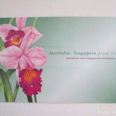Sellos: ER * AUSTRALIA - SINGAPUR * FOLDER CON DOS HOJITAS * 1998. Lote 263184565