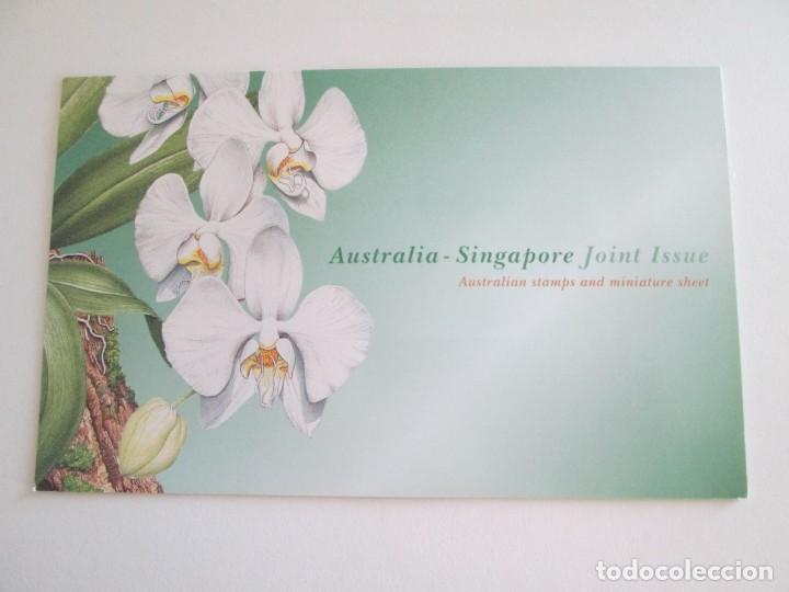 ER * AUSTRALIA - SINGAPUR * FOLDER CON DOS HOJITAS * 1998 (Sellos - Extranjero - Oceanía - Australia)