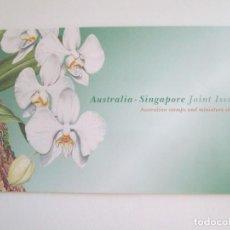 Sellos: ER * AUSTRALIA - SINGAPUR * FOLDER CON DOS HOJITAS * 1998. Lote 263184875