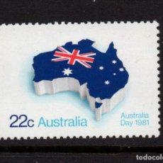 Sellos: AUSTRALIA 726** - AÑO 1981 - DIA DE AUSTRALIA - FIESTA NACIONAL. Lote 263584220