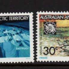 Sellos: ANTARTICO AUSTRALIANO 19/20** - AÑO 1971 - 10º ANIVERSARIO DEL TRATADO ANTARTICO. Lote 263586635