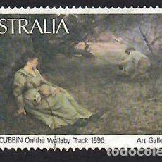 Sellos: AUSTRALIA 1981, YVERT 739. USADO. PINTURA DE FRED MCCUBBIN (1855-1917). ARTE. ARTES PLÁSTICAS.. Lote 263606525