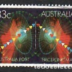 Sellos: AUSTRALIA 1985, YVERT 921. CORREO ELECTRÓNICO. INFORMÁTICA. INTERNET. COMUNICACIONES, E-MAIL.. Lote 263607730