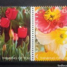 Selos: AUSTRALIA FLORES SERIE DE SELLOS USADOS. Lote 267862059
